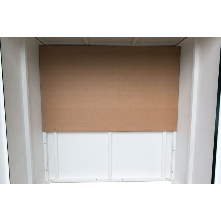18mm plywood backboard inside GRP cabinets