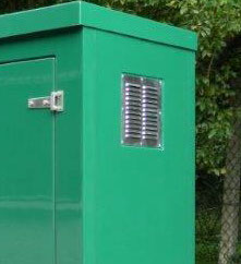aluminium vent for grp cabinets