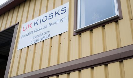 uk kiosks signage on the office building
