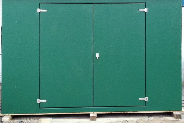 textured finish green grp enclosure