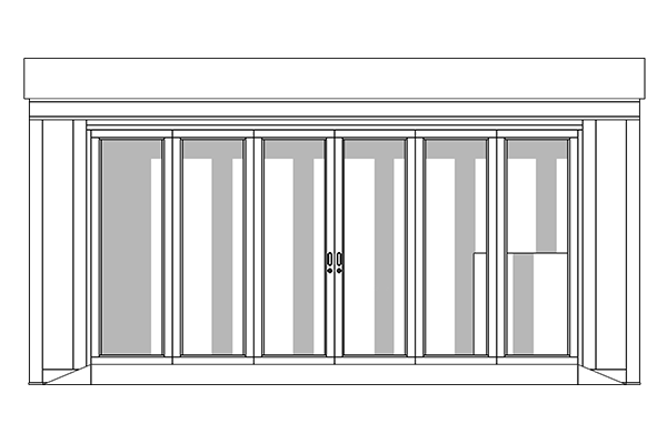 retail units line drawing