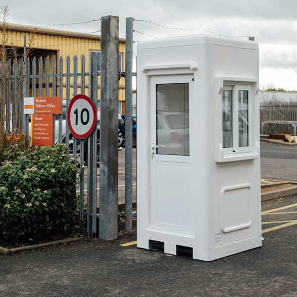 white grp kiosk outside a post office
