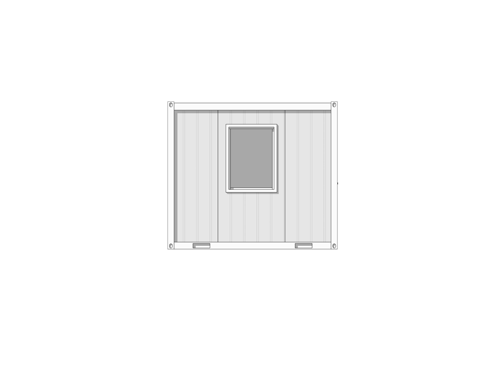 see through line drawing of 3m x 2.44m hastings cabin