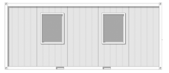 grey and white security cabin on transparent background